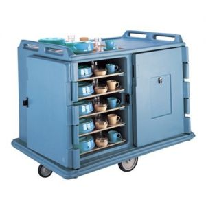 Meal Delivery Cart, Low Profile, 2 Doors, 2 Compartments, Tray Size 15 x 20
