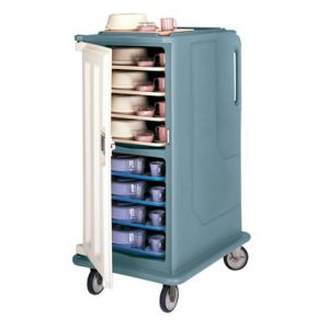 Meal Delivery Cart, Tall Profile, 1 Door, 2 Compartments, Tray Size 15 x 20