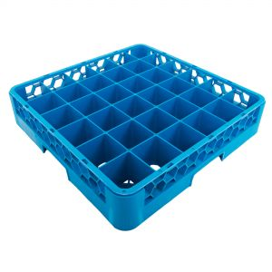 Glass Rack 36 Square Compartments Blue (Warewashing)