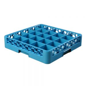 Glass Rack 25 Square Compartments Blue