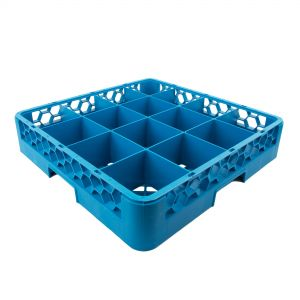 Cup Rack 16 Square Compartments Blue (Warewashing)