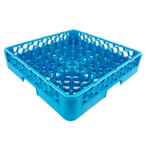 Peg Type Plate/Tray Dish Rack Blue (Warewashing)