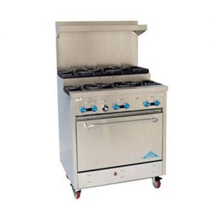 Range, Gas, 72 Inches, (2) large 31-1/2 Inches ide Ovens