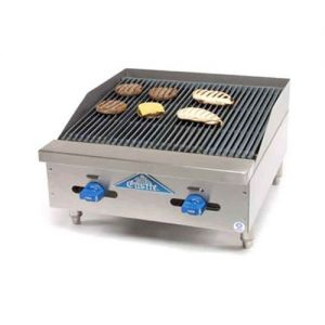 Lava Rock Char-Broiler, Counter Model, Gas, 24 Inches