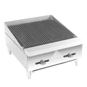 Radiant Char-Broiler, Counter Model, Gas, 24 Inches