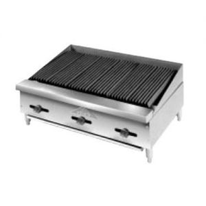Lava Rock Char-Broiler, Counter Model, Gas, 36 Inches