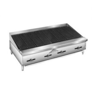 Lava Rock Char-Broiler, Counter Model, Gas, 48 Inches