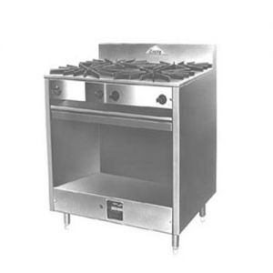 Heavy Pot Range, (2) Burners, Open Front Cabinet, Gas, 36 Inches