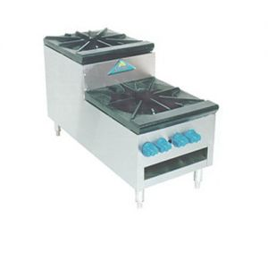 Stock Pot Range, Step-Up Saute, Gas, 18 Inches