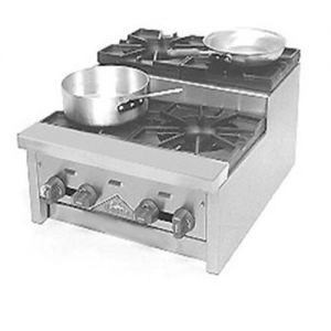 Hotplate, Step-Up Saute, Counter Model, Gas, 12 Inches