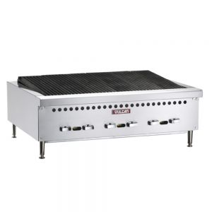 Medium Duty Radiant Countertop Charbroiler, 36 Inch, Gas