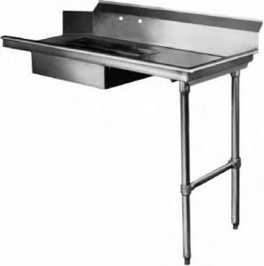 Soiled Dishtable, 26 Inch, Straight Design, Machine Right