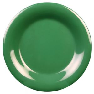 5 1/2″ Melamine Wide Rim Plate - Color Green (12/Case)
