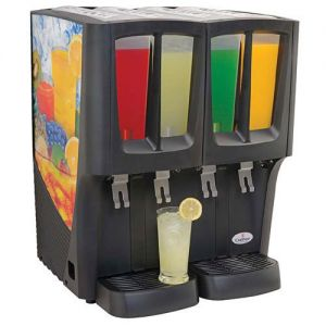 G-Cool Mini-Quattro Cold Beverage Dispenser, (4) 2.4 Gallon Bowls