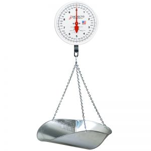 Hanging Double Dial Scoop Scale - 40 lb. Capacity