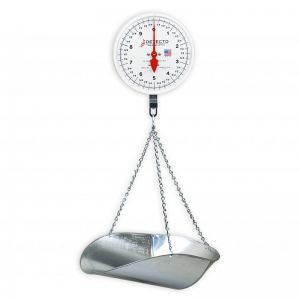 Hanging Double Dial Scoop Scale - 20 lb. Capacity