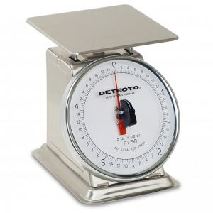 Stainless Steel Rotating Dial Type Portion Scale - 5 lb. Capacity
