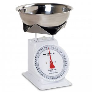 Fixed Dial Portion Scale with Stainless Steel Bowl - 50 lb. Capacity