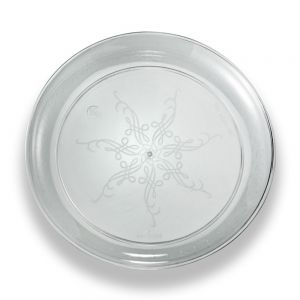 "EMI CC007 6.25"" Caterer's Collection Clear Disposable Plate - 20/Pack"