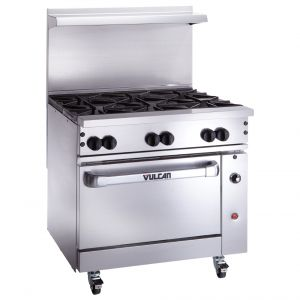 "36"" Endurance Restaurant Range w/ 6 Burners and 1 Oven"
