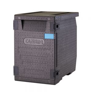 "Cambro EPP400110 GoBox® Front Loader Insulated Food Pan Carrier - 25 3/16"" x 17 1/4"" x 24 9/16"""