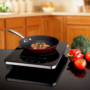 Induction Cooker with a Cast Iron Enamel Fry Pan