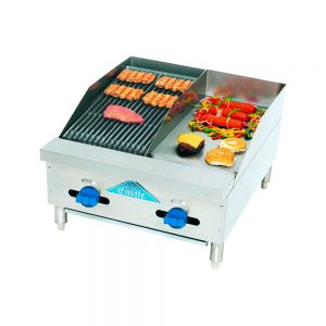 Radiant Char-Broiler/Griddle, Counter Model, Gas, 24  Inches