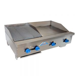 Radiant Char-Broiler/Griddle, Counter Model, Gas, 36 Inches