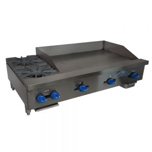 "Budget Series 20"" Countertop Gas Griddle w/ 2 Open Burners"