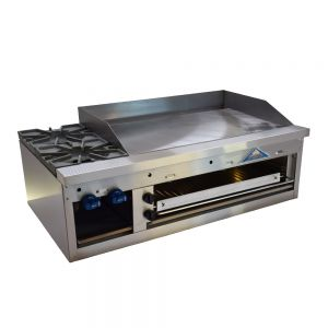 Hotplate/Griddle/Overfired Broiler, Counter Model, Gas, 48 Inches