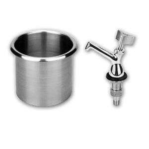 Round Drop-In Dipperwell, Stainless Steel
