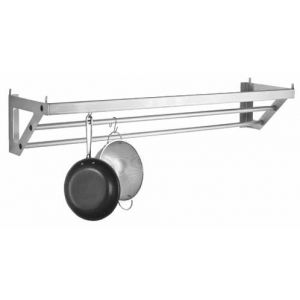 48″ Stainless Steel Pot Rack with 6 Hooks