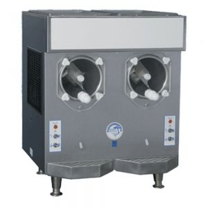 Frozen Drink Machine w/ 7 Qt Cylinder & 12 Qt Hopper - Remote Cooled, 2 Two-Flavor Dispenser Units