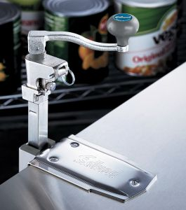 NSF Manual Can Opener W/ 22 In Bar and Clamp Base