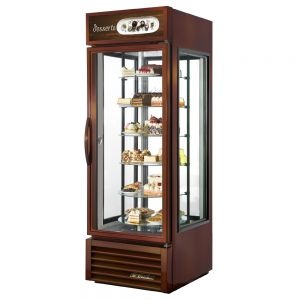 Specialty Merchandiser, One Section, Rotating Glass Shelves, 23 Cu. Ft.