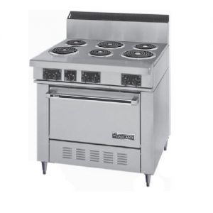 Commercial Range, 6 Burner, 1 Oven, 36 Inch, Electric