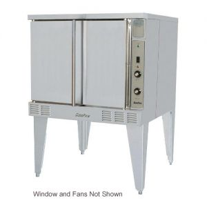 SunFire Single Deck Electric Convection Oven with 2 Speed Fan, Window and Interior Light
