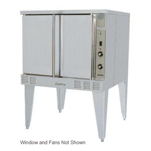 SunFire Single Deck Gas Convection Oven with 2 Speed Fan, Window and Interior Light
