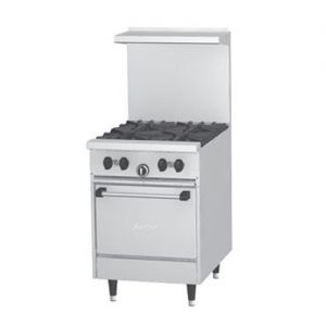 Restaurant Range, 4 Burner, 1 Oven, 24 Inches