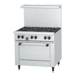 Restaurant Range, 6 Burner, 1 Oven, 36 Inches