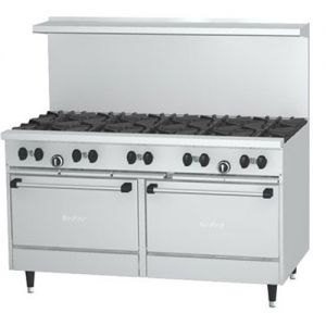 Restaurant Range, 10 Burner, 2 Oven, 60 Inches