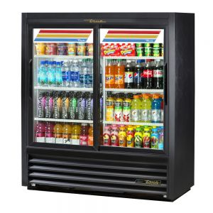 Convenience Store Cooler, Two Slide Glass Doors, 17 Cu. Ft.