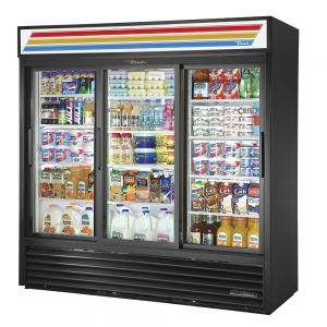 Glass Door Merchandiser, 3 Door, 69 Cu. Ft., LED