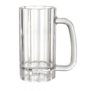 20 Oz Clear Plastic Beer Mug - 12/Case