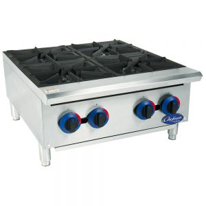 "Chefmate 24"" Gas Hot Plate - 4 Burners"