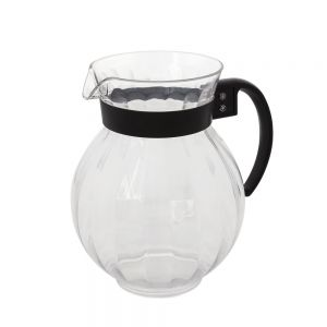 5-1/2 In Clear Plastic Tahiti Pitcher W/ Black Handle - 12/Case
