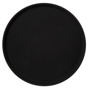 Round Non-Skid Serving Tray, Black, 16 Inches
