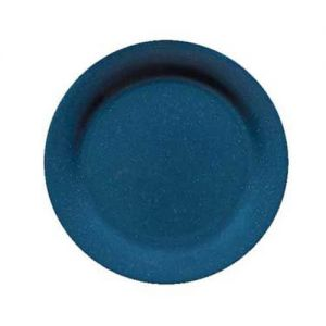 10 In Texas Blue Round Plate - 12/Case