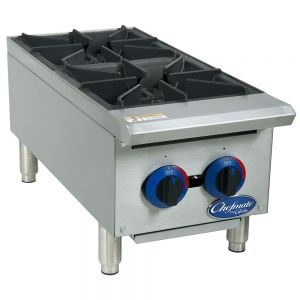 "Chefmate 12"" Gas Hot Plate - 2 Burners"