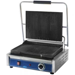 Mid-Size Panini Grill with Grooved Plates